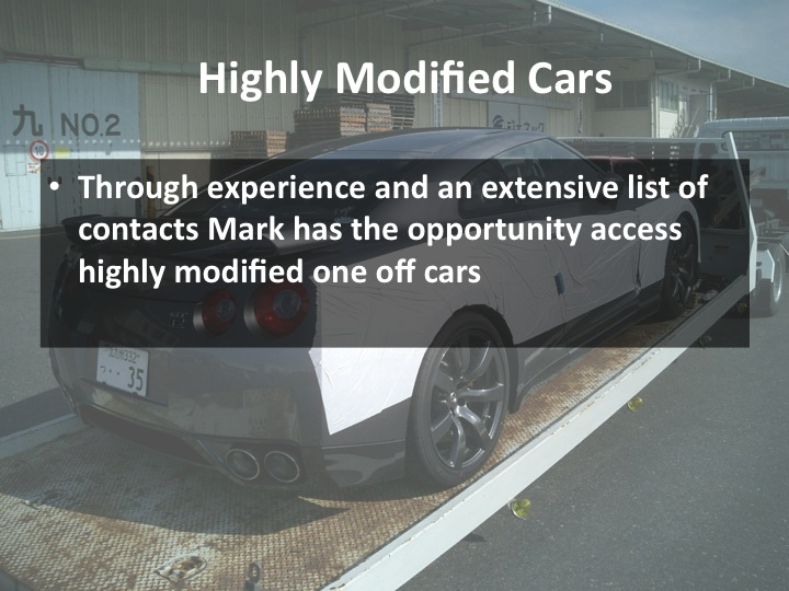 Note about highly modified cars